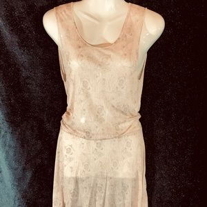 Free People Draping Tunic w Elastic Waist, Medium